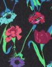 Italian aqua/wine floral silk georgette