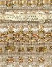 Italian fancy beige/gold metallic ribbon boucle'