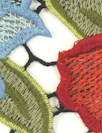 A1ice & 01ivia floral guipure lace - red/green/blue