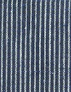 hemp/organic cotton yarn dyed ticking - dark blue