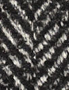 Italian black/white wool/cashmere herringbone coating