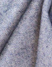 NY designer navy/silver wool blend herringbone suiting