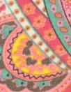 hi twist polysilk chiffon - pink/aqua paisley