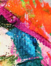 Italian digital viscose knit - painted blooms