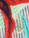 Italian digital viscose knit - tropical floral stripe