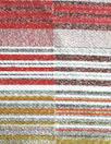 Carmen Marc Va1vo garnet/gold/silver silk blend jacquard