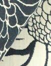 Italian cotton 'silhouette tropic' reversible jacquard