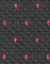 Trin@ Turk cotton blend 4-way stretch jacquard - black/red