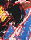 famous designer jacquard knit - red/blue floral