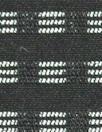 NY designer yarn-dyed cotton stretch woven - black/white .75 yds