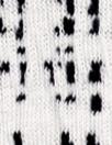 white/black crosshatch doubleknit, Oeko-Tex cert.
