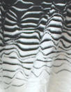 textured yarn-dye knit stripe - black/white