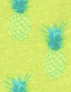 French viscose/lycra knit - pineapple graphic