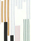 Italian linear graphic viscose/spandex knit