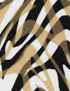 earthy animal print montage digital viscose knit