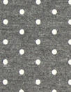 soft and drapey bamboo/spandex jersey - charcoal dots