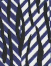 NY designer navy/black/white graphic ITY knit 1.75 yds