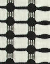 CA designer black/white yarn-dye grid novelty knit