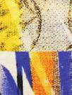 Italian digital viscose knit - deco patchwork 1.625 yd