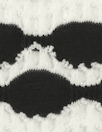 NY designer yarn-dye novelty eyelet knit - black/white