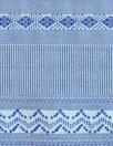 French-style yarn dyed stripe jacquard knit - blue