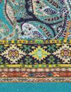 Italian paisley border panel viscose/span knit