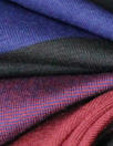French wide stripe viscose/span knit - indigo/brick