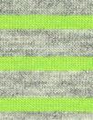 bright lime/gray heather yarn dye stripe jersey