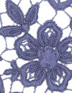 reembroidered double scallop floral lace - navy
