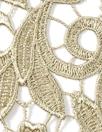 elegant floral guipure lace - gold