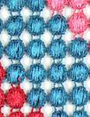 famous designer wavy bead guipure lace wide trim