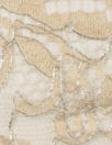 CA designer double scallop chantilly lace - beige