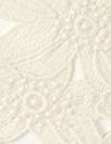 Italian glazed look ivory guipure lace