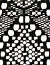 CA designer crochet-style lace - black 1.875 yd