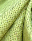 fine quality cross dye linen - lime/dusty plum