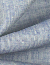 fine quality cross dye linen - blue/off white