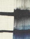 100% linen digital print - edgy indigo grid