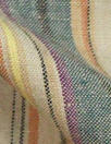 CA designer earthy multicolor stripe linen woven