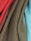 Italian ombre dyed linen - aqua/rouge/mocha
