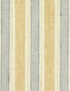 European linen/rayon stretch woven maize/chambray stripe