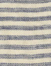 NY designer rustic linen/cotton stripe - navy/natural