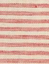 NY designer rustic linen/cotton stripe - red/natural