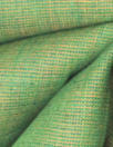 fine quality cross dye linen - fern/orange