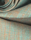 fine quality cross dye linen - jade/orange