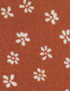 Dutch Oekotex cotton poplin for masks - rust flowers