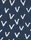 Dutch Oekotex cotton poplin for masks - navy 'v'