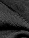 Italian black textured decorative design matelasse' brocade
