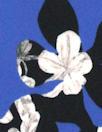 Rebecca Tayl0r dreamy petals matte hybrid - cobalt 1.5 yds