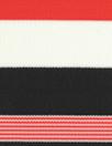 Italian red/blackwhite striped matte jersey