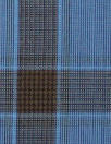 famous designer merino wool plaid - blue/nutmeg
